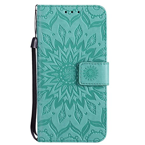 Custodia iPhone X, cmdkd Wallet Custodia Bumper per iPhone X. (Porpora) Verde