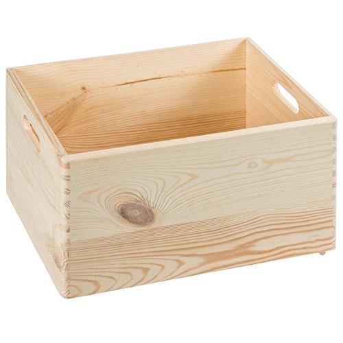 ALLZWECKKISTE AUFBEWAHRUNG HOLZ BOX HOLZBOX HOLZKISTE KASTEN (40x30x24cm)