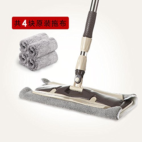 LIUXINDA-WJ 2018 Home LatestFlat mops Home Wood Flooring Floor by Mopping Instead to Rotate The Drag and The Drag, Product + 3 Pieces of Cloth -