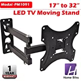 Home Bliss Premium Heavy Duty Wall Mount Stand for 17 - 32 inches LCD LED TV Moving TV