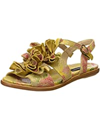 Neosens S943 Fantasy Floral Yellow Aurora, T-Strap Sandals Femme