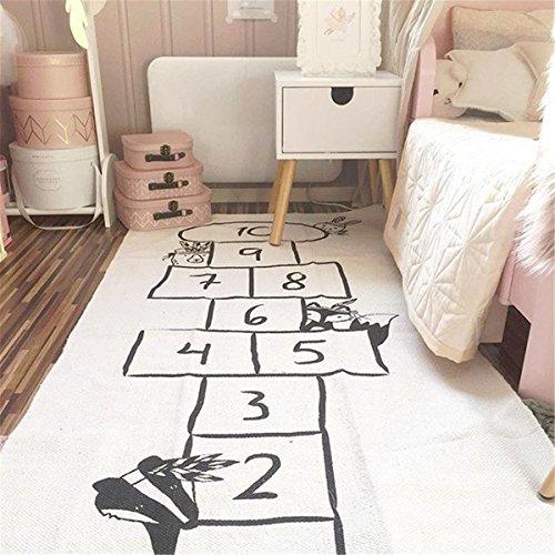 ppich Matte Kinder Baby Kinderteppich Mat Wandteppich Kinderzimmer Deko groß und dünn mädchen Jungen Game Carpet 170X72cm Beige ()