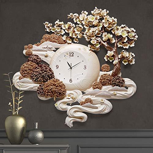 QuXiaoMo Dekoration Kreative Moderne Einfache Relief Mode Dekorative Ästhetische Kunst Uhr Wohnzimmer Stereo Clock Ring Gas Keramik Material Plexiglas Spiegel Schön und praktisch - Antriebswelle Ring