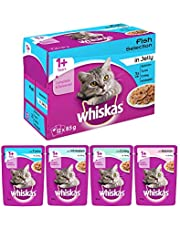 Whiskas Adult ( 1+ Year ) Wet Cat Food , Fish Selection (Salmon, Coley, Tuna, Whitefish) – 85g (12 Pouches)