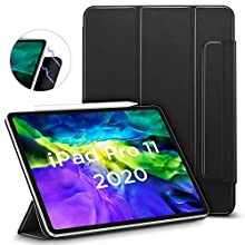 ESR Rebound Magnetic Smart Case for iPad Pro 11 2020 & 2018,Convenient Magnetic Attachment,Auto Sleep/Wake Trifold Stand Case, Black