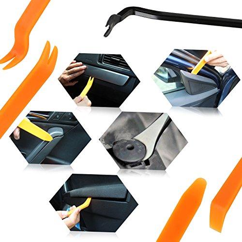 LIHAO 240pcs Rivet Clips Plastiques de Types Universels, Outils Démontage Installation pour Réparation Voiture Automobile, 5pcs Attaches de Câble