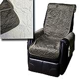 Sesselschoner mit Seitentaschen Lammflor Sesselschoner von JEMIDI Sesselauflage Überwurf Sesselüberwurf Sesselbezug Polster Sofaüberwurf Sesselschützer Sesselbezug Schonbezug