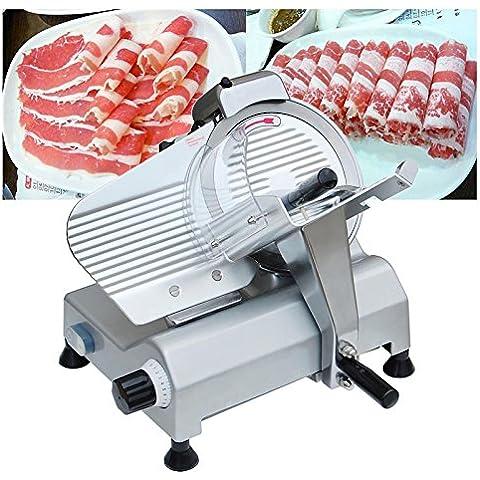 HPcutter Cortadora de Fiambre Electrónica Cortafiambres Meat Slicer Commercial Deli Slicer 10 Inch for Meat Chopper Butcher Cutter (10