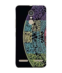 PrintVisa Designer Back Case Cover for Lenovo K6 (Cut Part D Artistic Colourful Half Circle)