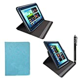 """iTechCover® ASUS MeMO Pad Smart 10"""" ME301T ME301 10.1"""" Inch Sky Blue Diamond Universal Pu Leather Folding Folio Stand Case Cover Pouch With Adjustable Stand & Capacitive Touch Screen Stylus Pen"""