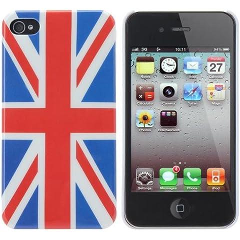 Cubierta del caso del patrón de la Copa Mundial de la Bandera del Reino Unido para el iPhone 4 4S.