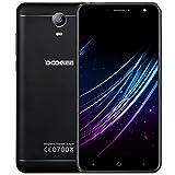 Telephone Portable Debloqué, DOOGEE X7S Smartphone 4G Pas Cher, Écran 6 Pouce HD IPS, 1Go RAM 16Go ROM, MT6737 Quad Core, Caméras Arrière 8MP, Téléphone Android 6,0 Double SIM - Noir