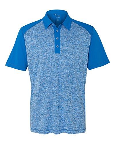 adidas Golf Mens Heather Colorblock Polo (A145) -Bright Roy -L - Colorblock Golf