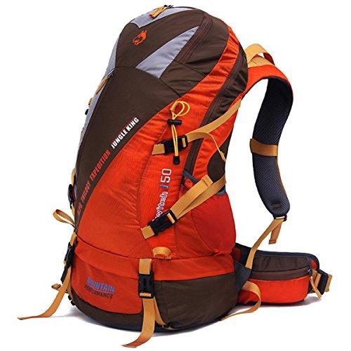 50L Neu Mit Großer Kapazität Ultra-light Nylon Klettern Tasche Reisen Rucksack Orange