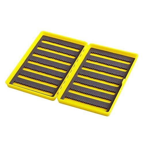Neues Produkt 1PC Kunststoff Slim Fly Angeln Box Schlitz Schaumstoff Einsatz Haken Aufbewahrung Fall halten 408Fliegen gelb Rot Internationale Werkzeug-boxen