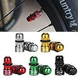 Sue Supply Staubschutzkappen Aluminiumlegierung Bike Rad Reifen Ventil Abdeckungen Ventiladapter Fahrradventil auf Autoventil Presta und Schrader Ventil, 1 Paar