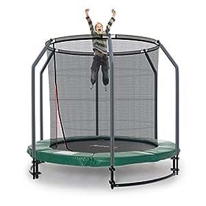 ampel 24 deluxe ground trampolin 244 cm komplett mit innenliegendem netz sicherheitsnetz mit. Black Bedroom Furniture Sets. Home Design Ideas