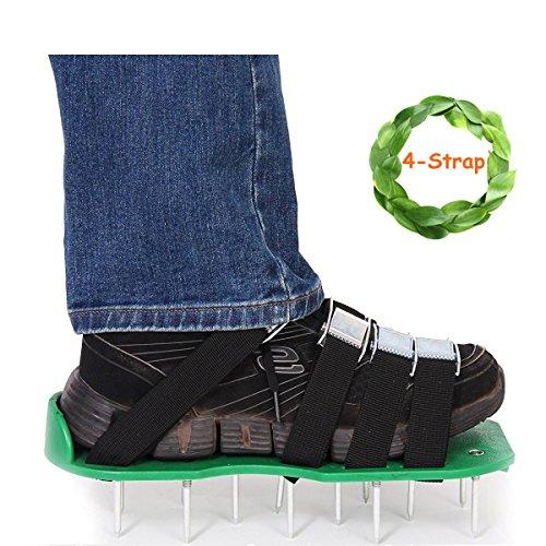 Zapatos aireadores de césped de Kyerivs con 4 correas con hebillas de alta resistencia, tamaño universal con llave inglesa