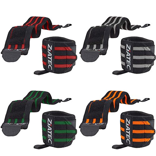 Ziatec Handgelenkbandagen Ultra (2er Set) - 50 cm Länge - Fitness, Bodybuilding & Cross-Fit-Bandagen - Studio-Bandage - Handgelenkgurte - Handbandagen, Größe:50.0 cm;Farbe:grün …