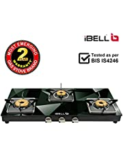 iBELL 8413DG 7MM Toughened Glass Top Gas Stove with Square