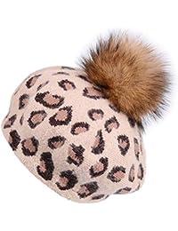 MKHDD Donne Vintage Sexy Berretto Leopardo Stampato Cappello di Velluto  Zucca Cappello Ragazze Palla di Pelliccia 0f8b69c3d60d