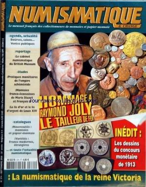 NUMISMATIQUE ET CHANGE [No 374] du 01/09/2006 - HOMMAGE A RAYMOND JOLY - LE TAILLEUR DE FER - LA NUMISMATIQUE DE LA REINE VICTORIA - LE CABINET NUMISMATIQUE DU BRITISH MUSEUM - DANS L'EMPIRE ACHEMENIDE - LE LIS D'OR ET LE LIS D'ARGENT DE LOUIS XIV