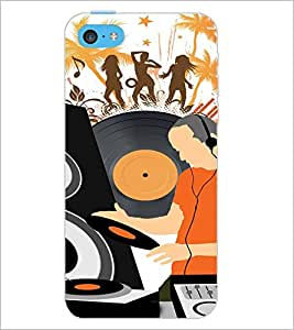 PrintDhaba Music D-4117 Back Case Cover for APPLE IPHONE 5C (Multi-Coloured)