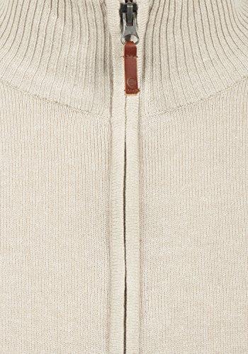BLEND Norman Herren Strickjacke Cardigan mit Stehkragen aus hochwertiger Baumwoll-Mischung Sand Mix (70810)