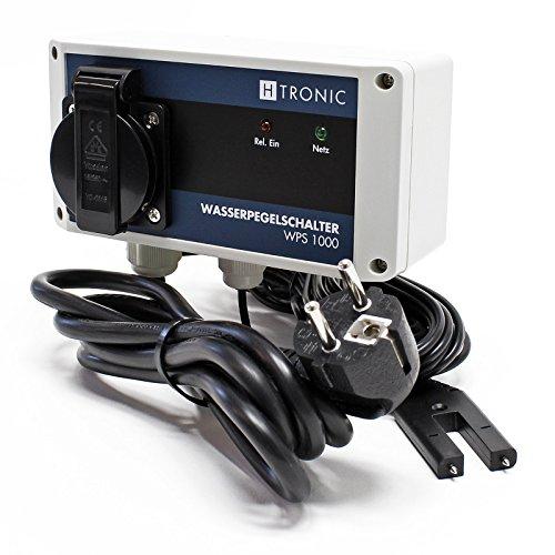 H-Tronic WPS 1000 Wasserpegelschalter V2 mit Wassersensor und 2m Sensorkabel 3000W Wassermelder