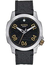 Nixon Ranger 40 Leather, Color: Black / Brass, Size: One Size