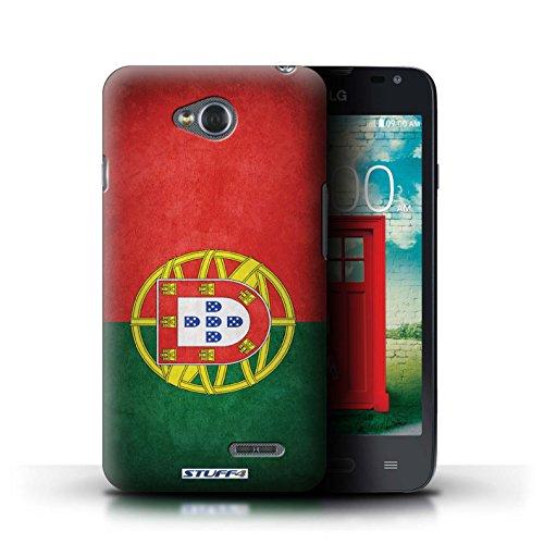 Kobalt® Imprimé Etui / Coque pour LG L65/D280 / Chili/Chiliean conception / Série Drapeau Portugal/portugais