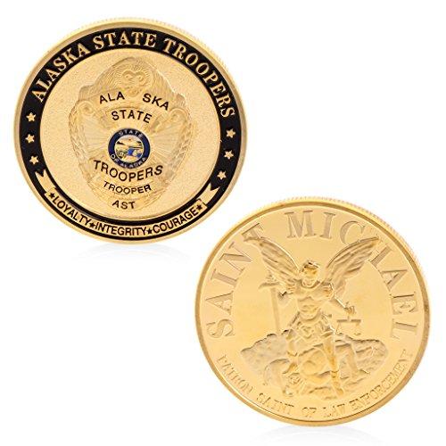 AmarzkSaint Michael Alaska State Troopers Gedenk Herausforderung Münze Sammlung Token -