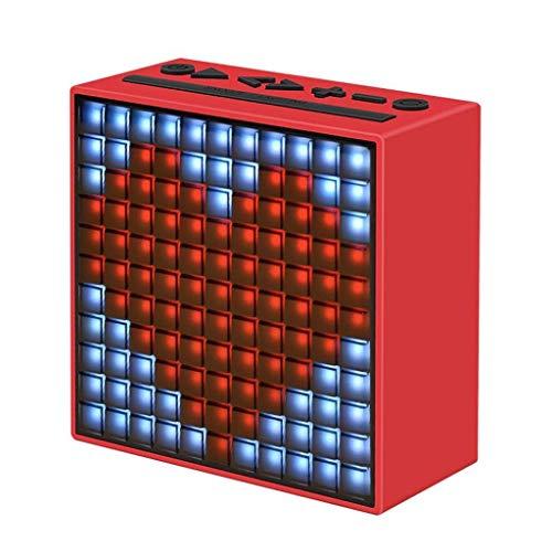 Oenzas Wireless Bluetooth Smart Pixel Speaker Tragbarer Lautsprecher Wecker (Farbe : E)