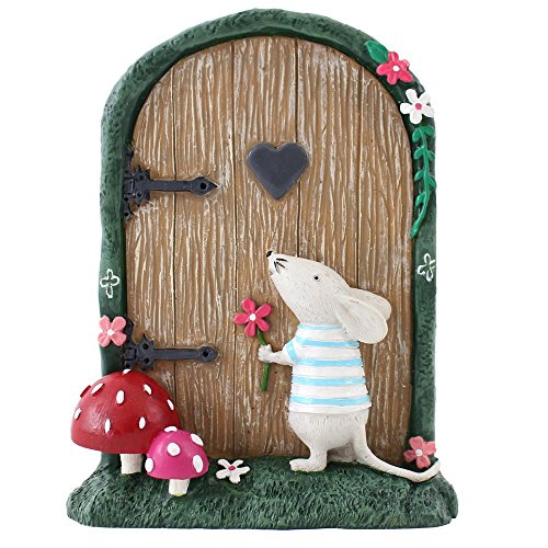 Jones Home and Gift Fairy Door with Marvin Mouse Cardboard Box, Multi-Colour by Jones Home and Gift Fairy Garden Box