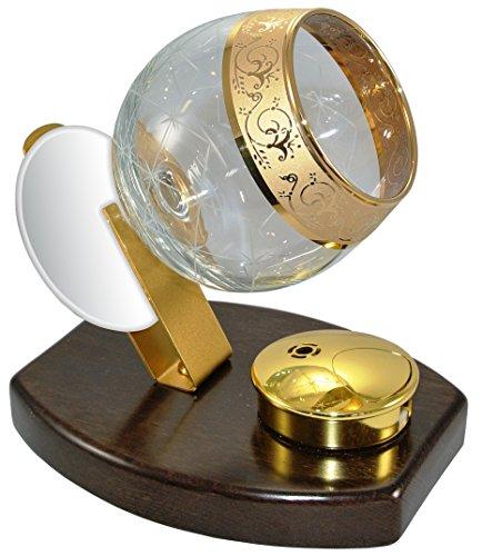 Cowa 600100 - Juego de calienta copas para brandy, cognac y armañac de cristal