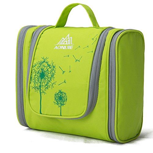 Bolso de tocador – Hie Bolsa para lavar Bolsa de cosméticos de afeitar para hombres y mujeres - Bolsa de viaje para lavar(Verde)