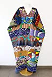 Ashantisboutik boubou africain coton vêtement femme ronde grande taille robe africaine longue artisanale tenue créatrice tunique ample été imprimé wax tous les jours maxi kimono caftan oversized
