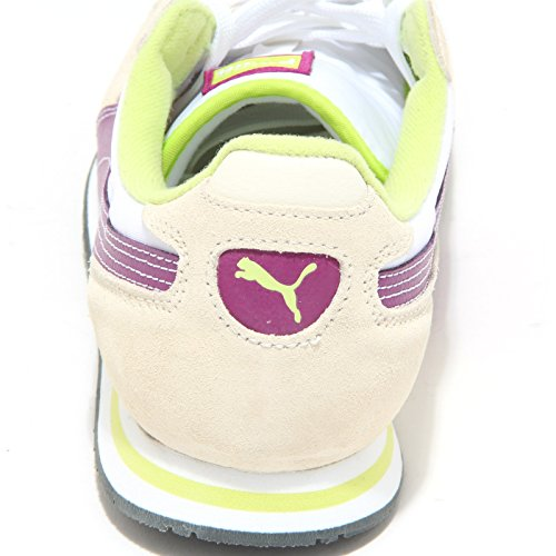 1147M sneakers donna PUMA cabana racer scarpe shoes women Bianco/Beige