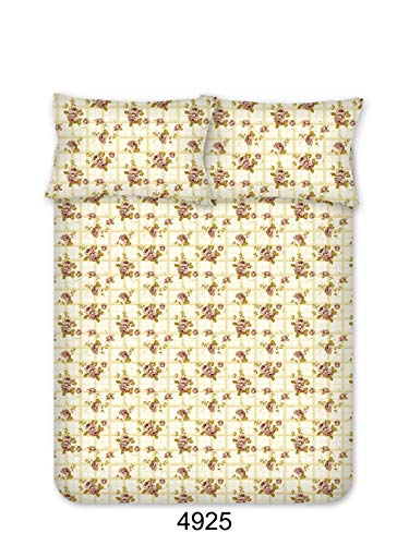 Bombay Dyeing Beeze+ 120 TC Cotton Bedsheet with 2 Pillow Covers - King Size, Brown