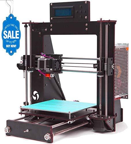 GUCOCO A8 Desktop DIY 3D Drucker Selbstmontage Prusa i3 Kit Upgradest High Precision Selbstbauen 3D Drucker mit LCD Bildschirm (Plattformgröße 200 * 200 * 180mm) -