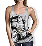 Clothing : American Trucker Ladies Tank Top Gym Workout Sleeveless Sizes XS-3XL