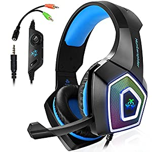 Swenter Gaming Headset für PS4 Xbox One PC,Stereo Sound Gaming Kopfhörer mit Mikrofon für Laptop Mac Tablet