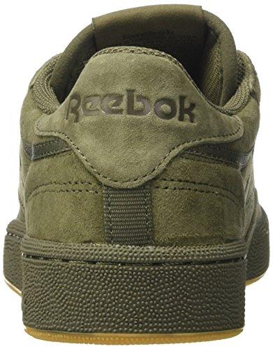 Reebok Club C 85 Tg, Scarpe da Ginnastica Uomo Verde (Hunter Green/Poplar G)