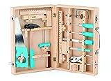 16 teiliges Set Woody Werkzeugschrank / Werkschrank / Werkzeugkoffer Holz Werkzeug z.B. Hammer, Säge, Schraubenzieher etc.