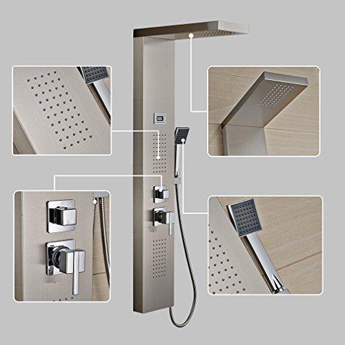 ᐅ Auralum Edelstahl Duschpaneel Mit Thermostat ᐅ Mein Badezimmer24