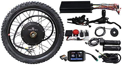 "EBike Conversion Kit 48V 60V 72V 3000W Rear Brushless Motor Wheel 24"" 100A Controller LCD Brake Electric Bicycle"