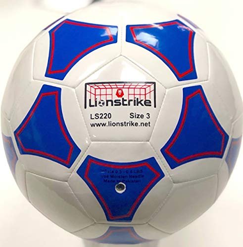 Pasa el ratón por encima de la imagen para ampliarla Balón de fútbol Lionstrike ligero, de cuero...