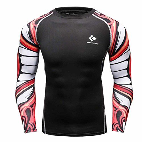 Men's Long Sleeves Base Layer Weight Lifting Tee Shirts style 13