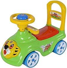 Akshat Tiger Rider & Push Along Small Magic Car With Music