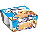 Nestle petit gourmand vanille caramel 4x100g 12 mois - ( Prix Unitaire ) - Envoi Rapide Et Soignée